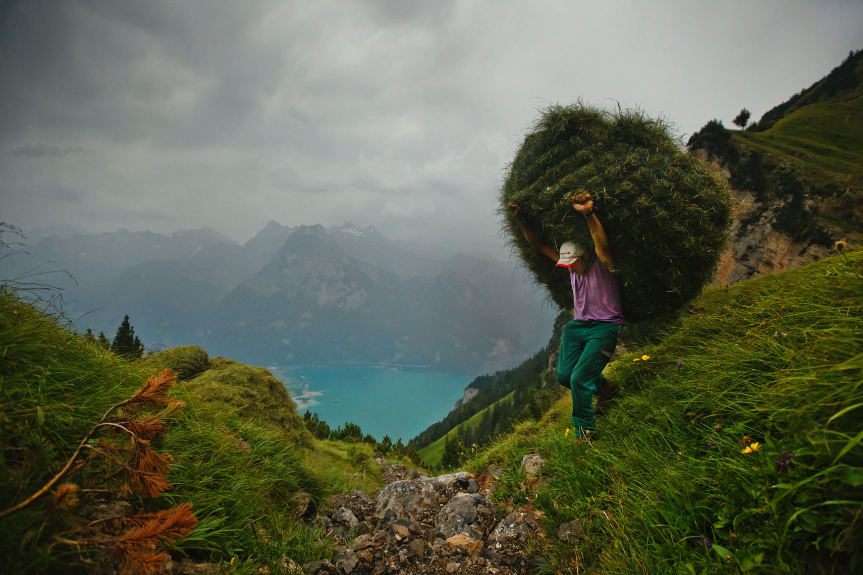 Mountain farmer Kari Gisler, for Reuters