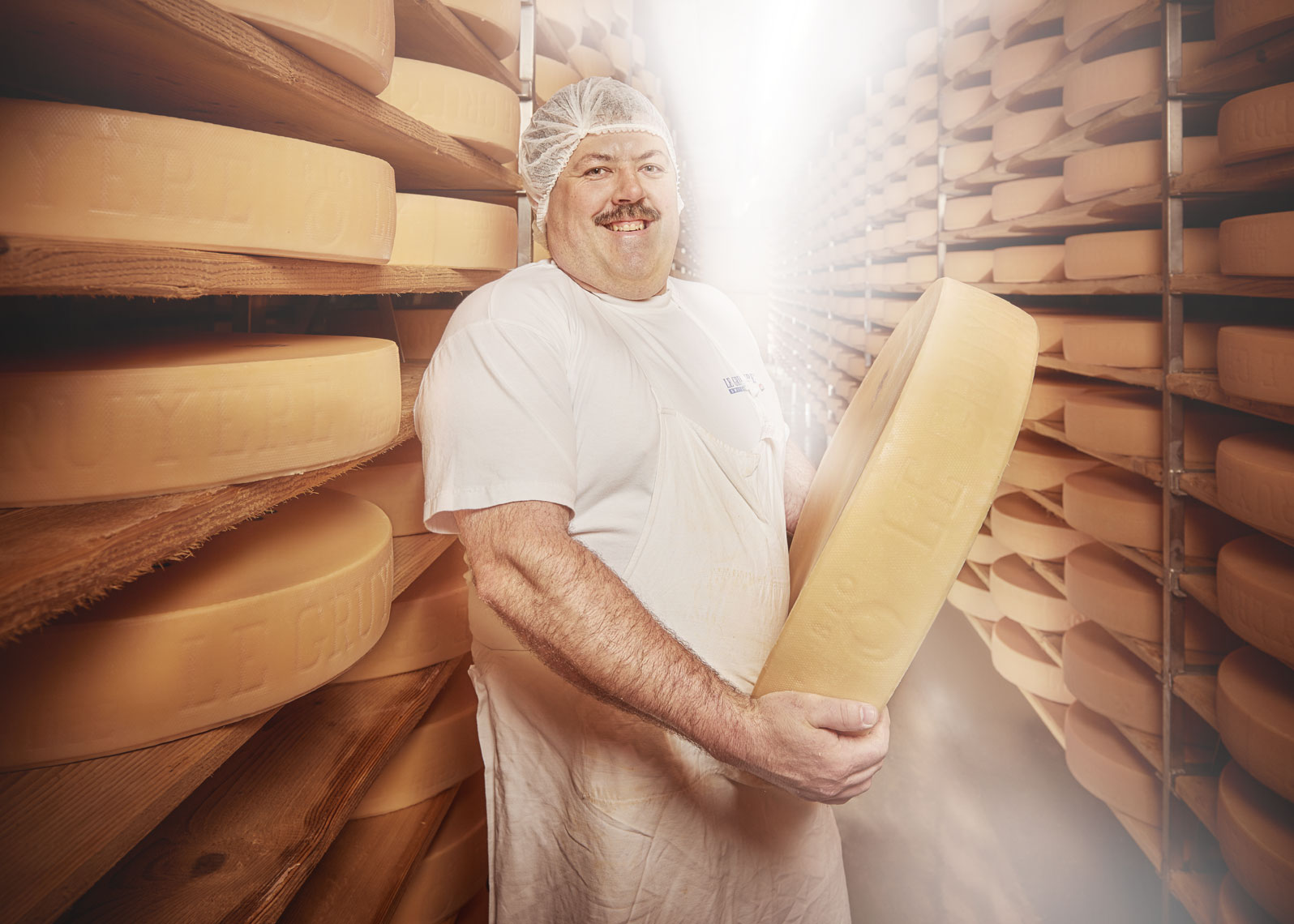 Advertising photography cheese maker