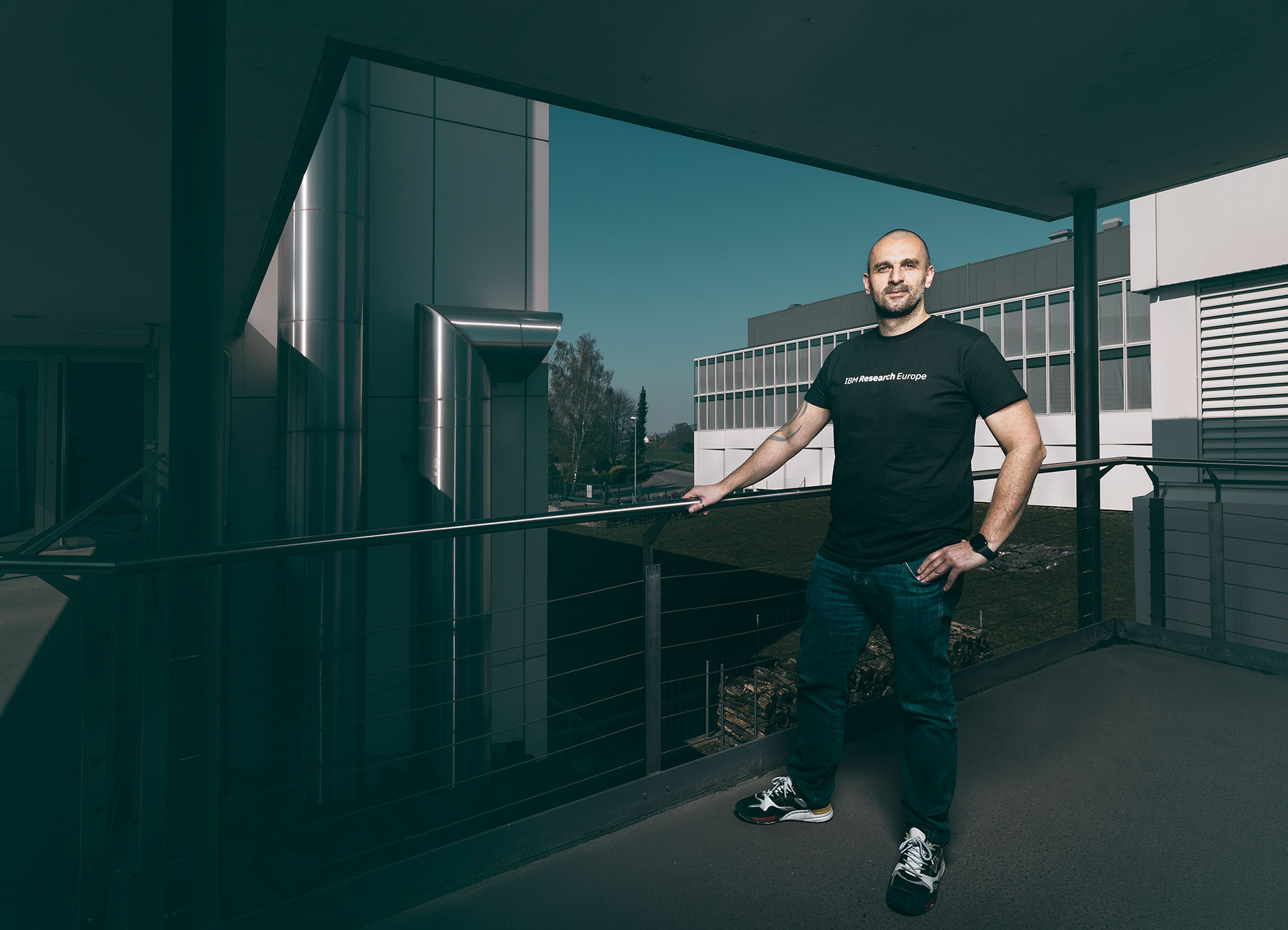 Teodoro Laino, Technical leader for Molecular Simulation, Principal RSM poses  at IBM Research Laboratory in Rueschlikon, for Bilanz